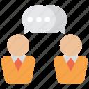 discuss, bubble, chat, message, talk