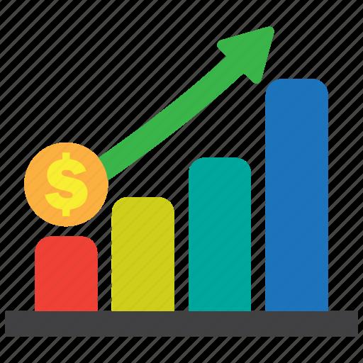 analytics, business, chart, graph, profit, revenue, statistics icon