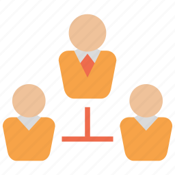 business, chief, hierarchy, manager, network, structure, team icon