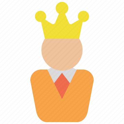 avatar, chief, crown, king, leader, manager icon