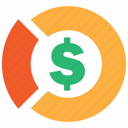 chart, market, money, pie, profit, share icon