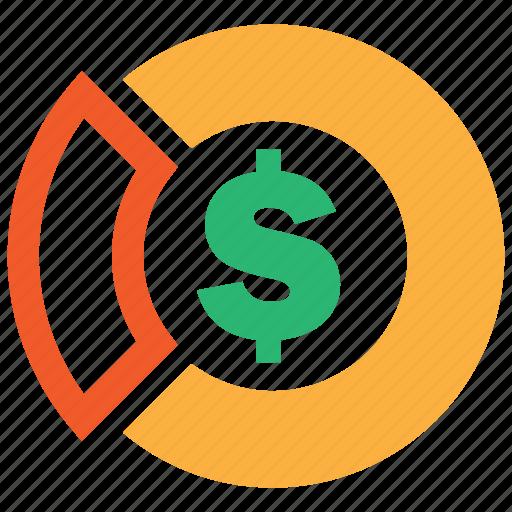 business, chart, market, pie, profit, revenue icon