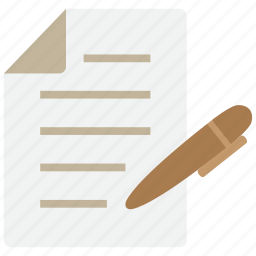 document, file, note, paper, pen, pencil, write icon