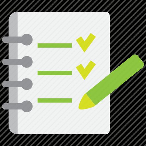 document, file, note, paper, pen, pencil, write icon