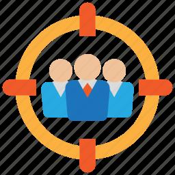 aim, customer, goal, head hunter, human resource, target icon