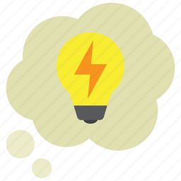 bubble, bulb, creative, idea, thinking, thought, thoughts icon