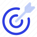 arrow, business, management, target icon