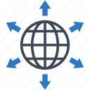 connection, global, worldwide icon