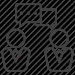 conversation, debate, discussion, speech, talk, word icon