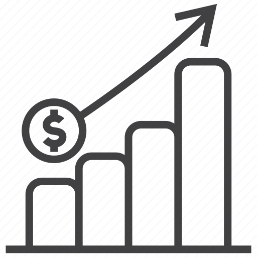analytics, chart, graph, profit, revenue, statistics, turnover icon