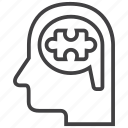 brain, bubble, logic, logical, thinking, thought icon
