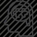 logical, thought, brain, bubble, logic, thinking