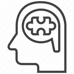 brain, bubble, logic, logical, thinking, thought icon