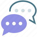 answer, chat, conversation, feedback, reply, result, sms popup