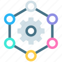company, history, management, meeting, people, team, team work icon