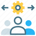 decision, management, plan, project, settings, strategy, teamwork icon