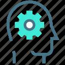 developer, development, head, organization, planning, setting, startup icon