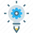 bulb, development, energy, generation, idea, innovation, power icon