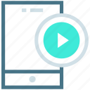 content, file, media player, mobile advertisement, multimedia, player, video icon