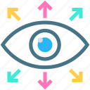 collaborative symbol, common goals, eye, motivation, observation, shared vision, visual icon
