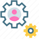 business, drawing, gear, marketing, operating, system, vision icon