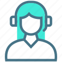 agent, call, customer, operator, phone, services, support icon