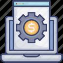 browser, computer, dollar, laptop, money, webpage, website