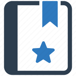 bookmark, favorite, library, star, text, topic icon