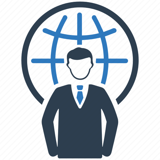 Businessman, communication, connection, global business icon - Download on Iconfinder
