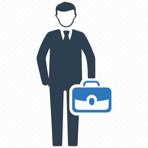 briefcase, business, businessman, employee, man, management, office icon
