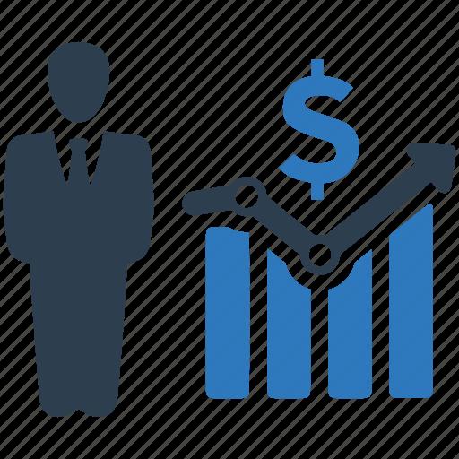 cash, chart, finance, financial, money, report, stock icon