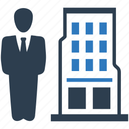 building, business, businessman, finance, leader, manager, office icon