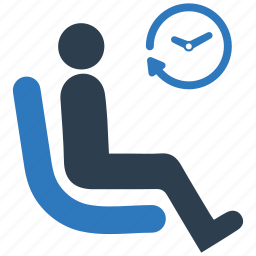 chair, clock, hall, patient, room, sitting, waiting icon