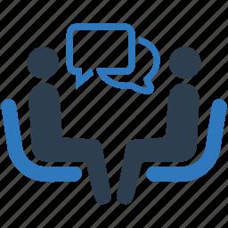 business, businessman, job interview, meeting, recruitment, talk, teamwork icon