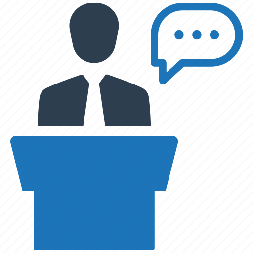 conference, meeting, presentation, speech icon