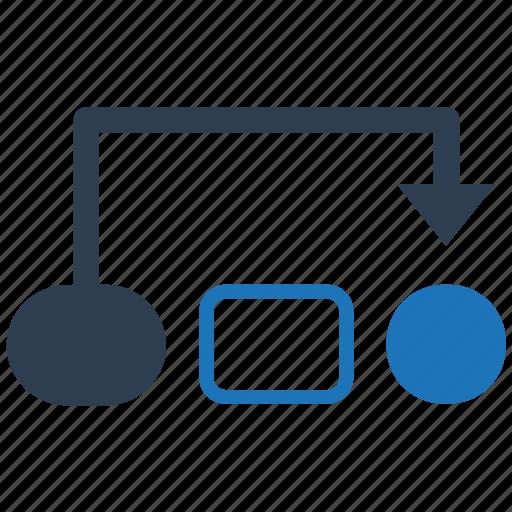 flow, flowchart, project, workflow icon