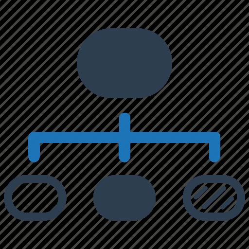 Flowchart, hierarchy, scheme, wireframe icon - Download on Iconfinder