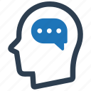 chat, head, planning, thinking, user