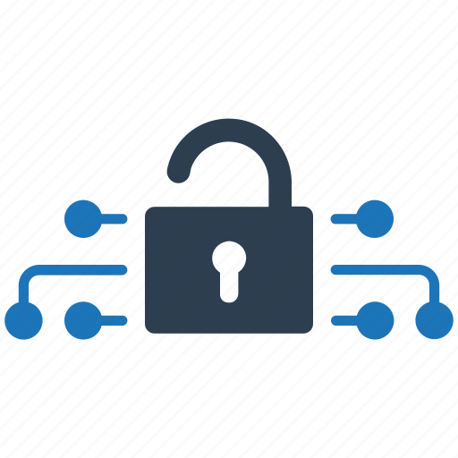 lock, network, protection, secure, unlock icon