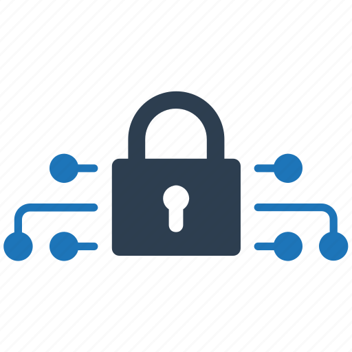 lock, network, protection, secure icon