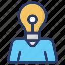 bright idea, creative idea, innovation, marketing, solution icon