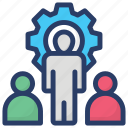 administration, business management, employee training, team building, team management icon
