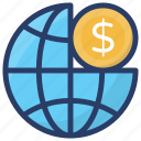 global business, international business, multinational business, virtual business, world wide business icon