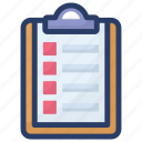 bulleted list, item list, notes, task list, todo list icon