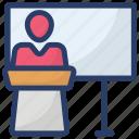 debate, lecture, orator, presentation, speech icon