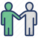 agreement, contract, greeting, handshake, meeting icon