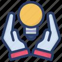 big idea, creativity, idea, innovation, power saving icon