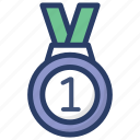 award, champion, medal, military medal, prize icon