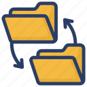 custom content, data share, data storage, data transfer, document sharing, folder share icon