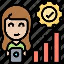 productivity, yield, chart, accountant, analysis